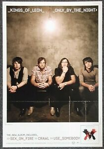 Kings of Leon Only By the Night 2008 Double-sided PROMO POSTER