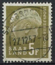 Saar 1957 SG#408, 5f President Heuss Definitive Used #A81321