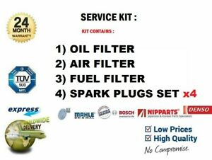 AIR FUEL OIL FILTERS 4x SPARK PLUGS for CHRYSLER VOYAGER III 2.4 i 1995-2001