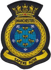 HMS Manchester Royal Navy RN Surface Fleet Crest MOD Embroidered Patch