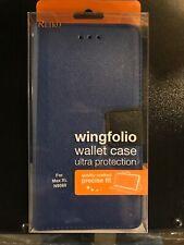 REIKO ZTE MAX XL/ N9560 3-IN-1 WALLET CASE IN Blue N9560