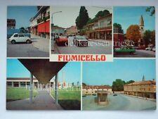 FIUMICELLO vedutine FIAT 500 auto car Udine vecchia cartolina