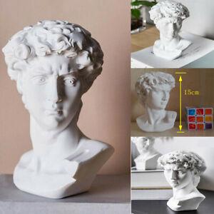 David Head Bust Greek Mythology Statue Mini Europe Michelangelo Home Decoration