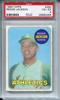 1969 Topps Baseball #260 Reggie Jackson Rookie Card RC Graded PSA 4 Yankees