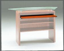 Composizione banco vendita cassa mobile mobiletto vetro legno con cassetti