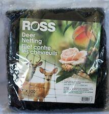 Ross Deer Netting Garden Fencing 7' x 100' Polypropylene