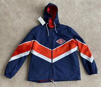 Gucci Blue Nylon Chevron Jacket Coat Eu Size 50 Medium New Rrp £1600 Italy 🇮🇹