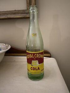 Genuine Royal Crown Cola bottle RC circa 1954