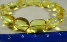 Natural Baltic Amber transparent stones bracelet authentic women's jewelry 304a