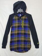 Rare Nike Women's XS Fast Break Flannel Jacket Hoodie Active Casual 426711 010