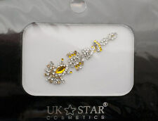 Bindi bijoux piel boda frente strass cristal de Swarovski dorada ING C 3666