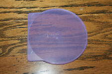 10 Purple Color Round ClamShell Cd/Dvd Case with Lock New Lot of 10