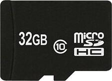 Carte mémoire haute vitesse 32 GO MICRO SDHC Classe 10 pour Samsung Galaxy