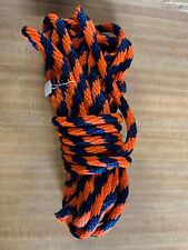 """3/4""""x 45 ft. Solid Braid Mfp Derby Rope. Navy/orange. Made in the Usa"""