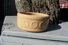 MASON CASH Ceramic Pottery Dog Food Water Bowl Dish DOG Embossed Wording ENGLAND