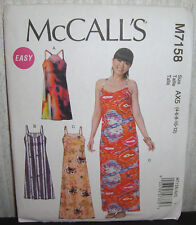 Womens/Misses Easy Pullover Dresses Sewing Pattern /McCall's M7158/SZ 4-12/UCN