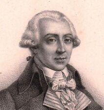 Portrait XIXe Jean-Lambert Tallien Révolution Française 1833
