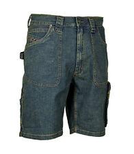 """Bermuda jeans pantalone corto da lavoro COFRA """"Havana"""" colore blu"""