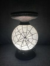 New ListingBath & Body Works Halloween Pedestal Light Up Candle Holder Web Floating Bat's