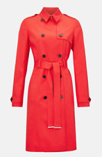 Karen Millen NEW Red Longline Mac Coat Ocassion Evening Trench Coat UK 6 to 16