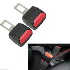 2 Pcs Car Safety Seat Belt Buckle Clip Extender Alarm Stopper Universal Black