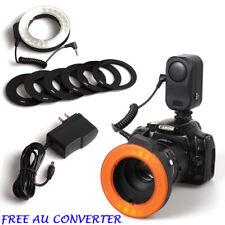 W48 LED Macro Speedlite Ring Flash Light Canon Nikon Digital Camera DSLR Lamp