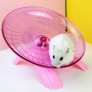 Pet Hamster Wheel Cage Flying Saucer Exercise Mouse Toys Disc Running O0G5