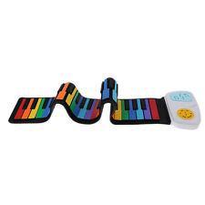 Rainbow 49 Keys Silicon Roll Up Piano w/ Loud Speaker Kids Birthday Gift