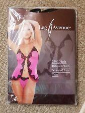 BNIP Leg Avenue Black Sequin Babydoll Set One Size/8-10