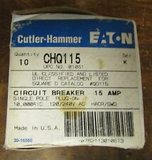 CUTLER HAMMER CHQ115 Single Pole 15 Amp CHQ Square D Q0115 Breaker*Price Per Ea*