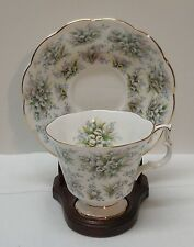 Royal Albert Bone China Lambeth Teacup and Saucer Bell Flowers England