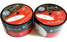 HP DVD-R 16X 4.7GB 120MIn Inkjet Hub White Printable 100pack 2x50pk Plastic Wrap