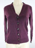 GAP Women's V-Neck Button Up Cardigan Purple Sweater XS G4