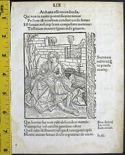 Brant'sStultifera navis,Fool who cannot keep a secret,Samson&Delila,woodcut,1497