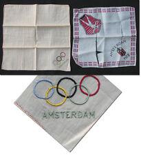 Olympic Games OLIMPIADI Amsterdam 1928 2 seta SALVIETTE souvenir
