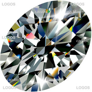 CUBIC ZIRCONIA LOOSE STONE EXCELLENT QUALITY OVAL SHAPE 7A CLEAR U.S.A SHIPPER 4