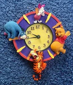 Extremely Rare! Walt Disney Winnie the Pooh with Friends Wall Clock