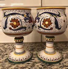 deruta italian pottery Cama Water Wine Goblet Glass (2)