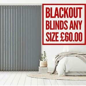 BLACK OUT Blinds Made to Measure VERTICAL BLINDS ANY SIZE Blind HIGH QUALITY £60