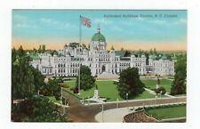 Parliament Buildings VICTORIA B.C. Canada 1930-50 Coast Pub. Postcard 116478-N