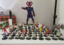 Heroclix Avengers Complete Set 1-61, 100-108, With Cards In Sleeves And Labeled