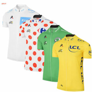 Summer Yellow Cycling Jersey For 2017 tour de france Winner Mens Yellow Jersey