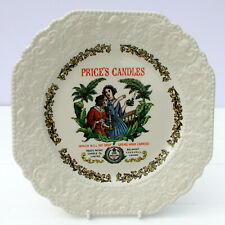 More details for vintage lord nelson pottery plate price's candles advertising