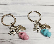 15 Baby Shower Boy Girl Carriage Stroller Trolley Pacifier Keychain Party Favors