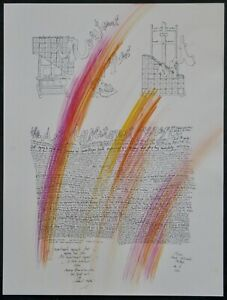 Mary Bauermeister, Unikat/Lithographie 2011, signiert, Art Investment Report