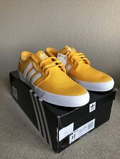 adidas Originals Men's Seeley Skate Shoes, Yellow/white, Size 12 Limited