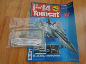 1/32 HACHETTE BUILD THE F-14 TOMCAT MODEL PLANE ISSUE 69 INC PART PICTURED