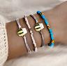 Women Vintage Boho Anklet Silver Gold Charm Chain Bracelet Foot Sandal Jewelry