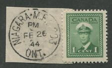 "CANADIAN MILITARY POST OFFICE CANCEL ""NIAGARA FALLS ONT. - M.P.O. 203"""
