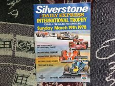 1978 SILVERSTONE PROGRAMME 19/3/78 - INTERNATIONAL TROPHY - FORMULA 1 F1